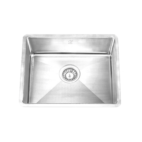 "HANA- FR - Single Bowl Designer Single Bowl Sink - 19"" x 17"" x 9"""