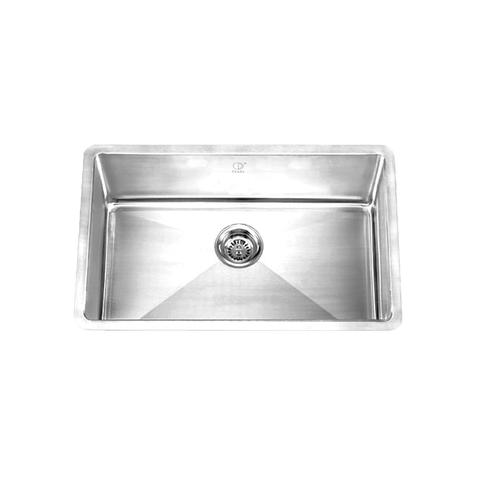 "HANA - PDR - Single Bowl Square Kitchen Sink - 30"" x 18"" 10"""
