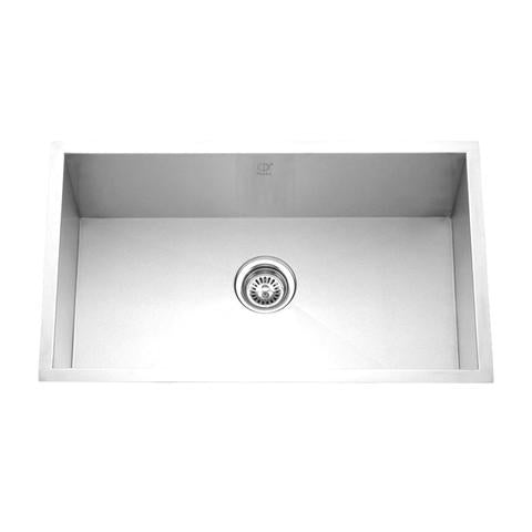 "HANA - P - Single Bowl Square Kitchen Sink - 32"" x 19"" x 10"""