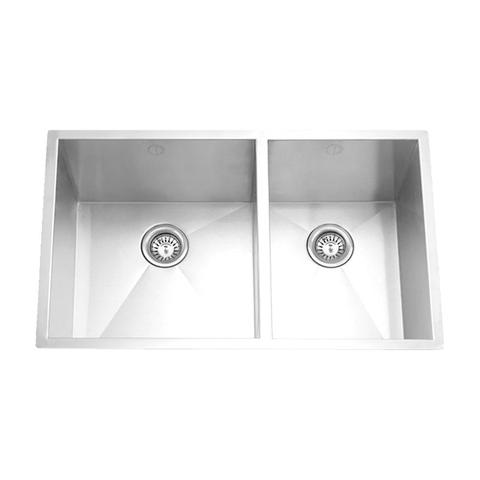 "HANA -SL - Offset Square Kitchen Sink - 32"" x 19"" x 10"""