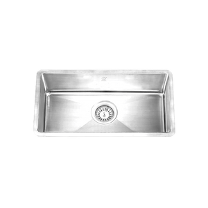 "HANA - TZR - Square Designer Single Bowl Bar Sink - 17"" x 10"" x 8"" - Radius Corners"