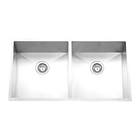 "HANA - E - Double Equal Under Mount Square Kitchen Sink - 32"" x 19"" x 10"""