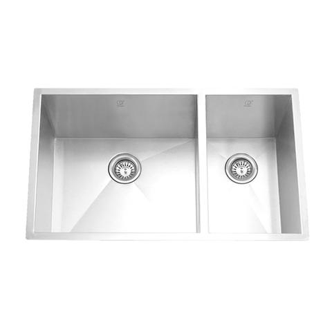 "HANA -KL - Offset Under Mount Square Kitchen Sink - 27 1/2"" x 18"" x 9"""