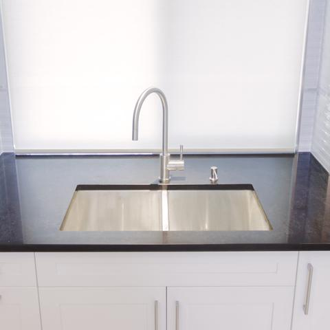 "HANA - E - Designer Under Mount Square Kitchen Sink - 32"" x 19"" x 10"""