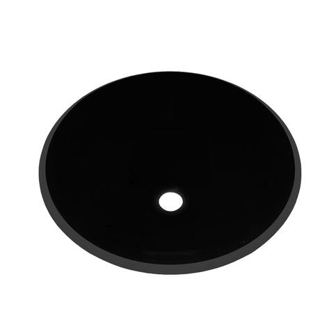 "KASU - GB - Black Glass Vessel Sink - 16 1/2"" x 6"""