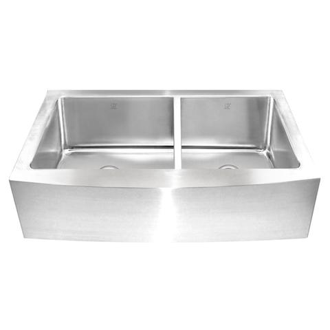 KESHI - CLR - Offset 16 Gauge Farmhouse Kitchen Sink