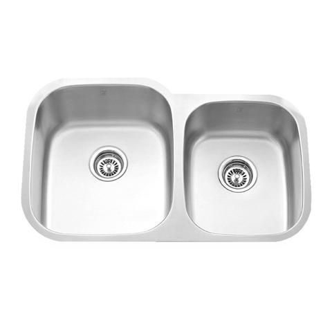 Mabe Cl Offset Double Bowl Kitchen Sink 32 14 X 20 58 X 9
