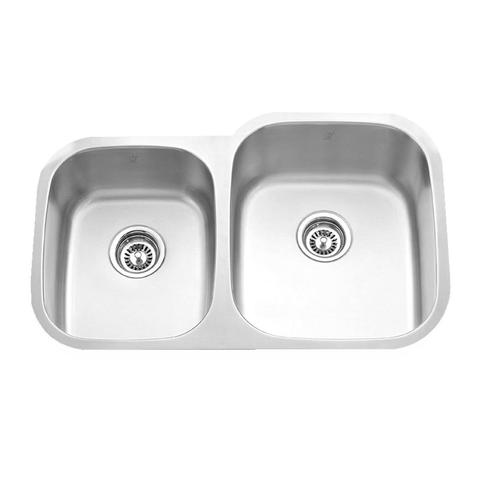 "MABE - CR - Reverse Mount Double Bowl Kitchen Sink - 32 1/4"" x 18 1/2"" x 9"""
