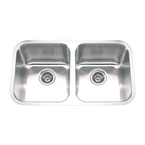 "MABE EK - Double Bowl Under Mount Kitchen Sink - 31"" x 17 7/8"" x 9"""