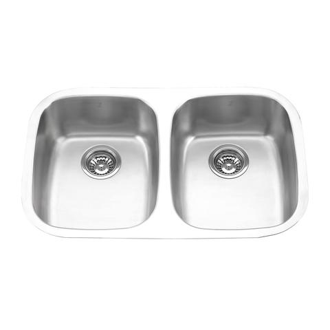 "MABE EXI - Double Bowl Under Mount Kitchen Sink - 29 1/4"" x 18 1/2"" x 9"""
