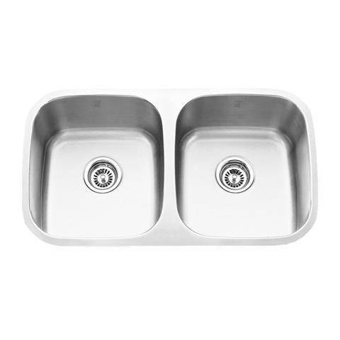 "MABE - E - Double Bowl Under Mount Kitchen Sink - 32 1/4"" x 18 1/2"" x 9"""