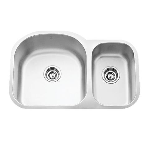 "MABE - SL - Offset Double Bowl Under Mount Sink - 31 1/2"" x 20 5/8"" x 9"""