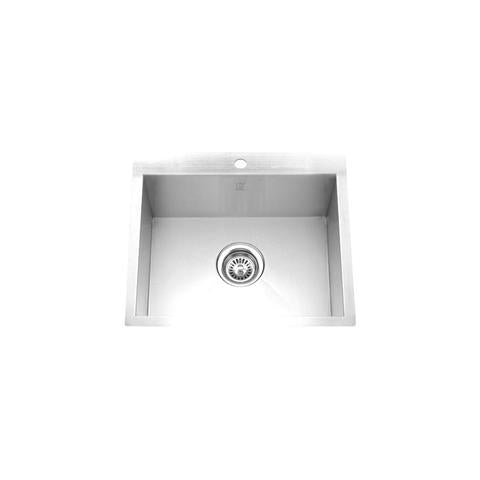 "PALO - MINI - Top & Under Mount Single Bowl Square Sink - 24"" x 22"" x 9 1/4"""