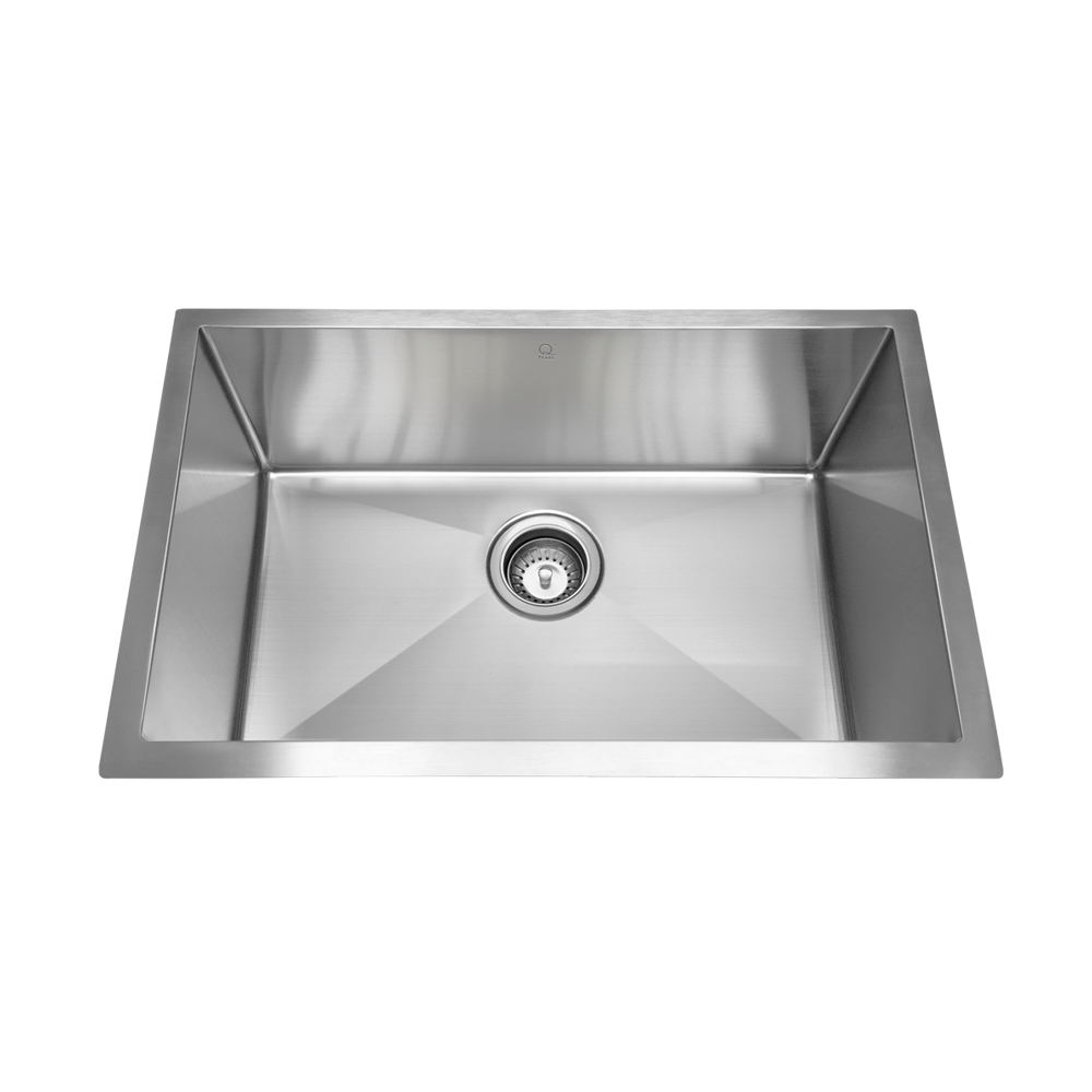 "QILA - PD - 16 Gauge Single Bowl Kitchen Sink with Radius Corners - 30"" x 18"" 10"""