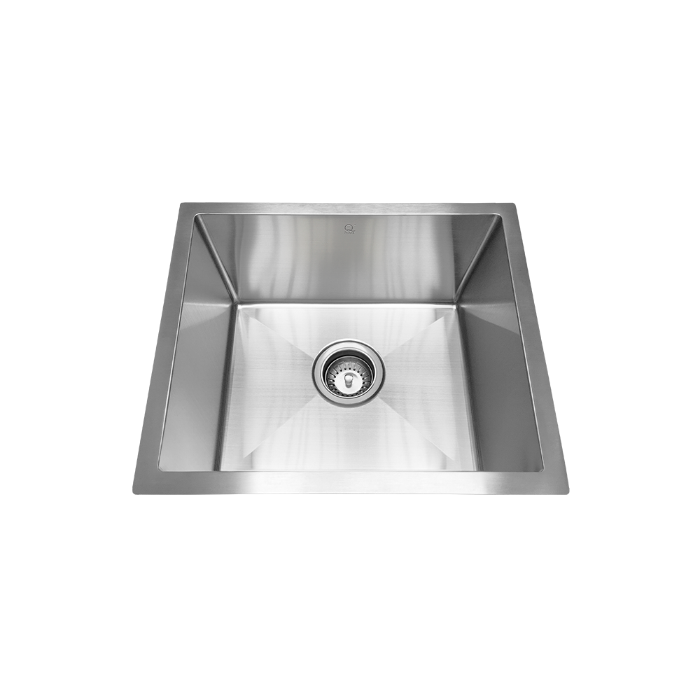 "QILA - T - 16 Gauge Single Bowl Designer Sink -  Bar - Prep- Laundry - 18"" x 14"" x 9"""