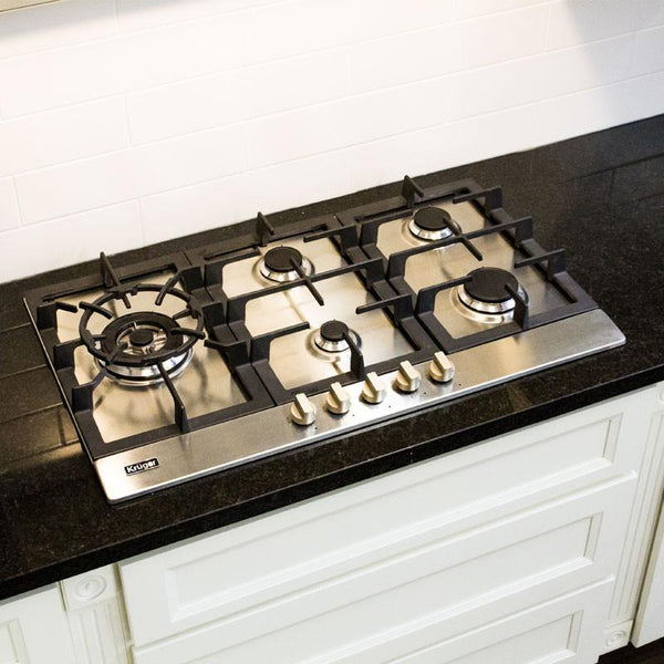 "VIGO - Stainless Steel with Cast Iron Grates Gas CookTop - 30"" & 36"""""