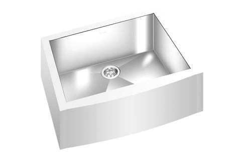 "GEMINI SINK ZFM2200 - Single Bowl Farmhouse Kitchen Sink Straight Corners - 25"" x 19 5/8"" x 9"" - Free Shipping - Fits 27"" Cabinet"