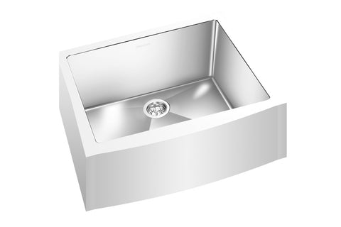 "GEMINI SINK ZRCFM2200 - Single Bowl Farmhouse Kitchen Sink Rounded Corners - 25"" x 19 5/8"" x 9""- Fits 27"" Cabinet"