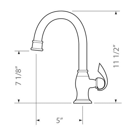 ALTA - Sleek Designer Bar Faucet - Brushed Nickel