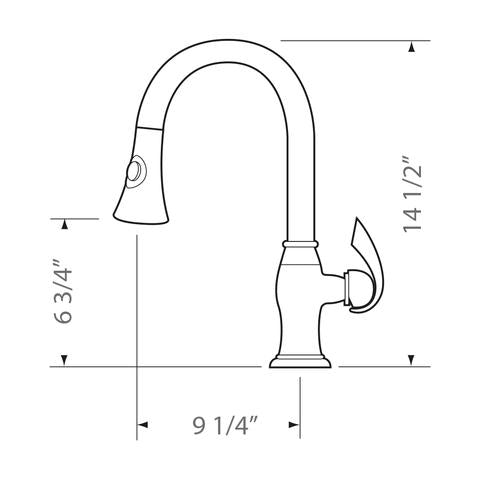ALTERA - Designer Pull-Down Kitchen Faucet - Rose Bronze