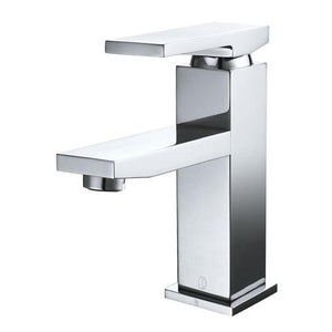 BELLO - Designer Square Vanity Faucet - Polished Chrome