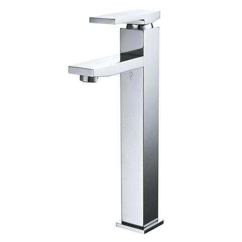 BELLO - H - Designer  Tall Square Vessel Faucet - Polished Chrome
