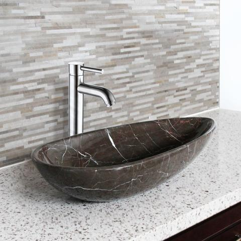 AURA - QN - Natural Hand-Carved Marble Vessel Sink