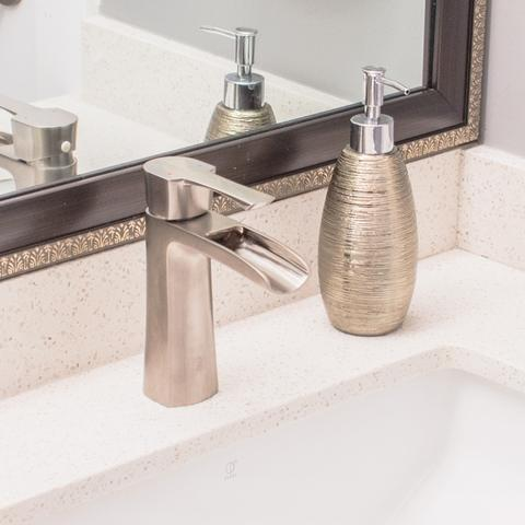 TAKKA - Designer Open Concept Vanity Faucet - Brushed Nickel