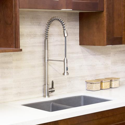 LUCAS - T304 Stainless Steel Pull Down Coil Faucet