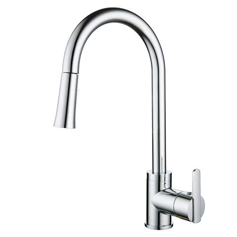 HELENA II - Designer Pull Down Kitchen Faucet - Polished Chrome