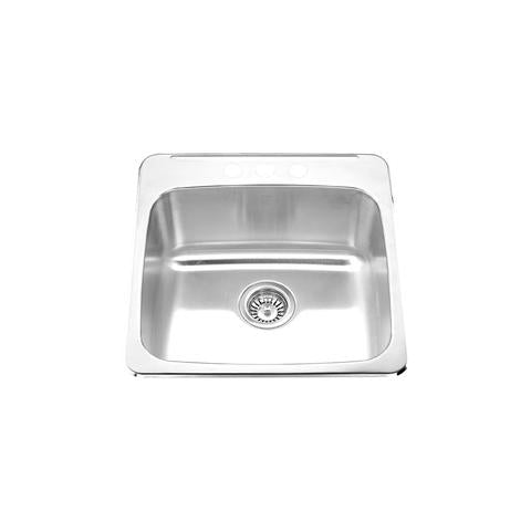 "IONA - L - Top Mount Single Bowl Laundry Room Sink - 20"" x 20 1/2"" x 8"""