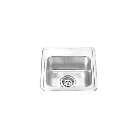 "IONA - T - Top Mount Bar Sink - 15"" x 15"" x 6"""