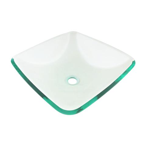 "KASU - G6 - Square Glass Vessel Sink - 16 1/2"" x 16 1/2"" x 5 1/2"""