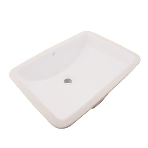 "KASU - SC - Under Mount Rectangle Bathroom Sink - 20 5/8"" x 14 1/2"" x 8"" - Beige Color"