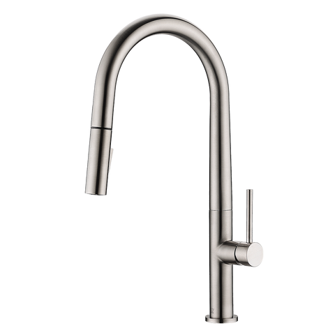 LENNOX - Pull Down Sleek Designer Kitchen Faucet - Brushed Nickel