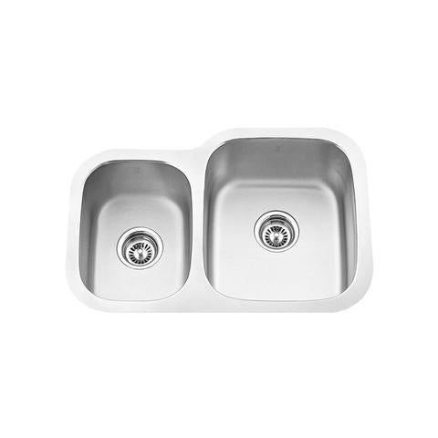 "MABE - CRX - Offset Reverse Mount Kitchen Sink - 27 1/8"" x 18 1/2"" x 8 1/4"""