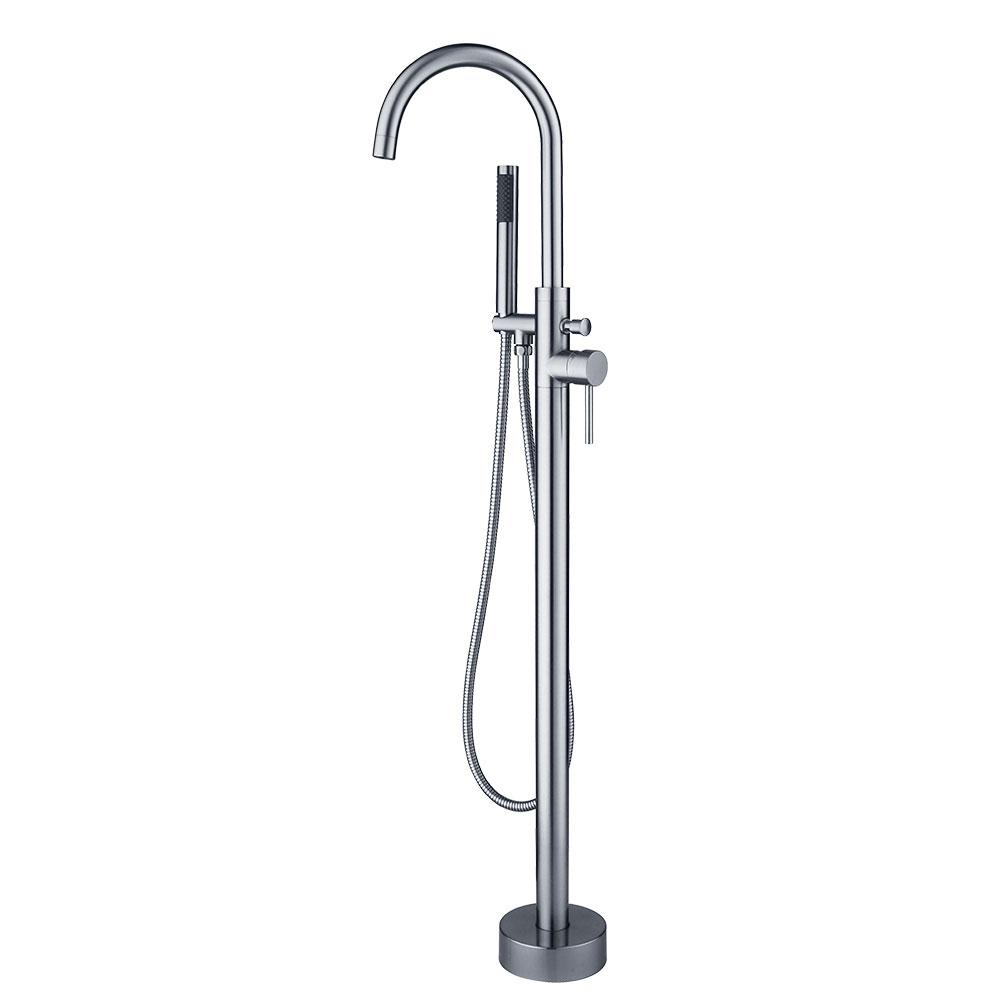 MARIE - Chrome Roman Tub Faucet with  Hand Held Sprayer