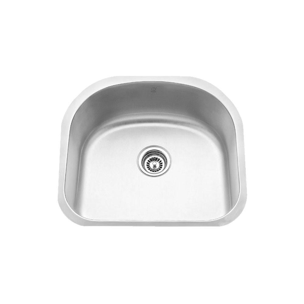 melo round - single bowl kitchen and laundry room sink