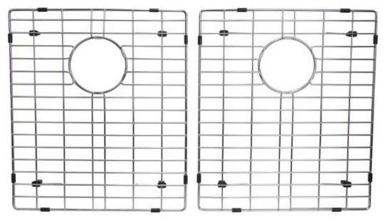 "VERTU - E - Double Equal NuGranite Kitchen Sink - Sink Grids Included - Chocolate - 31 3/4"" x 19 1/2"" x 9 1/2"""