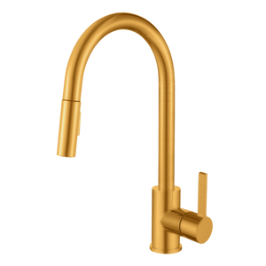 SANTINO - Champagne Gold Kitchen Faucet With Pull-Out Duel Spray Head