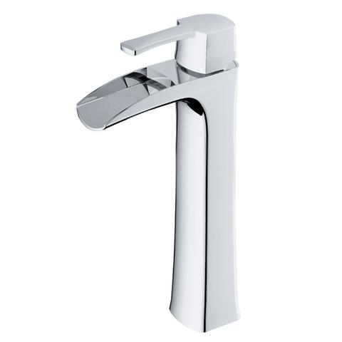 TAKKA - H - Vessel Designer Faucet - Polished Chrome
