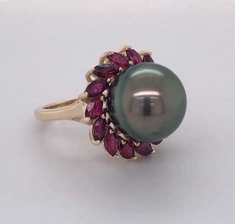 custom made pearl ring