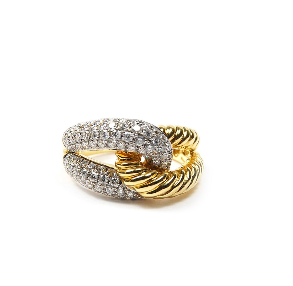 Interlocking Diamond Ring