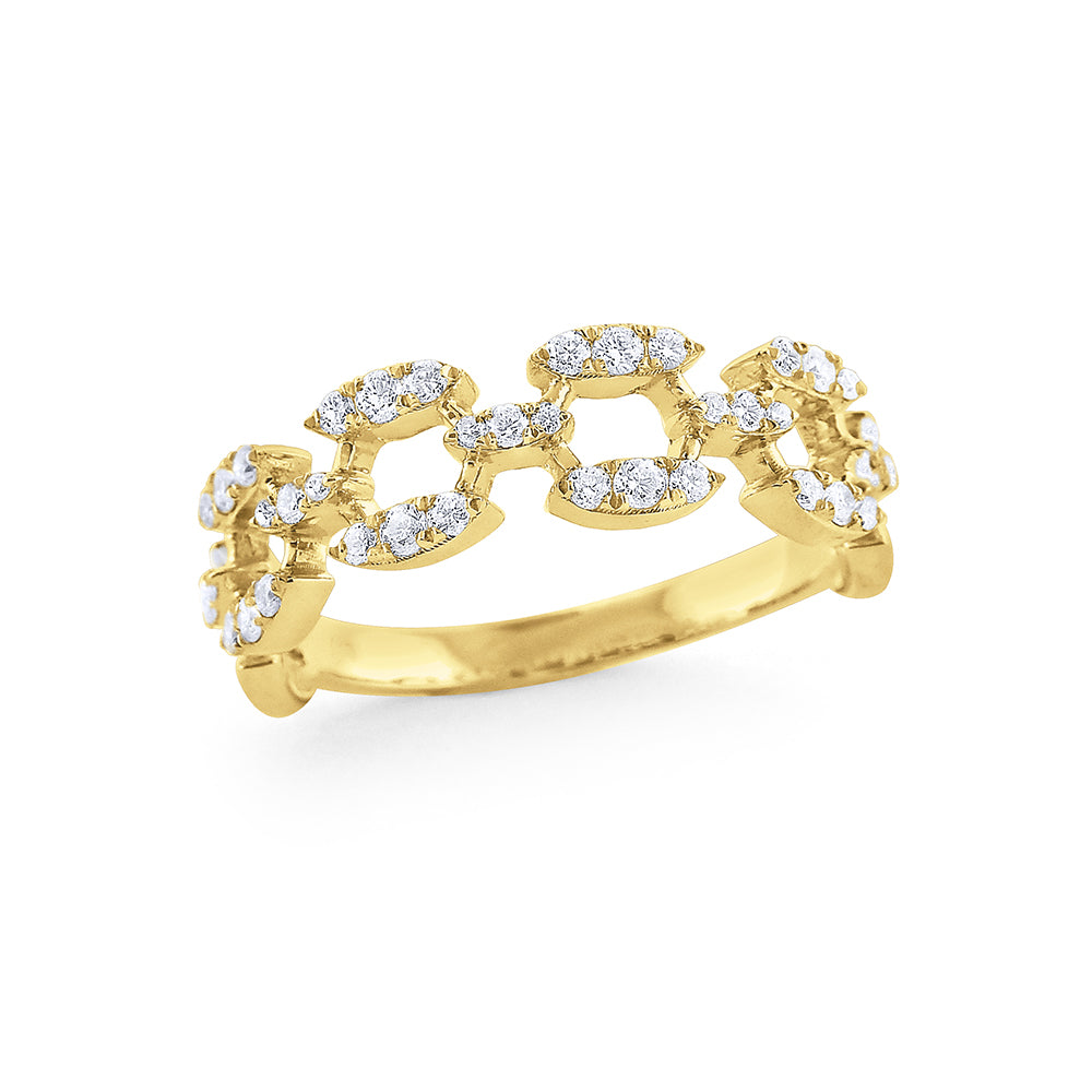 Diamond Link Yellow Ring