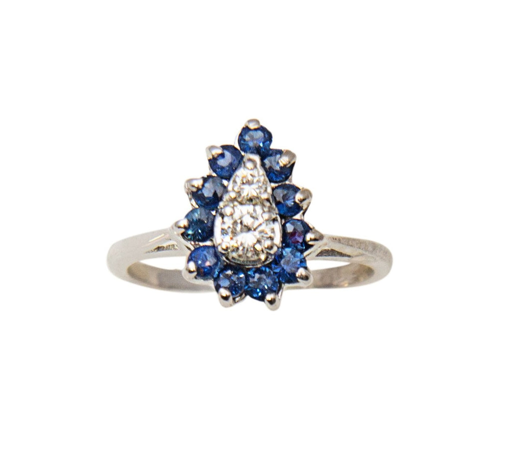 Sapphire and Diamond antique ring