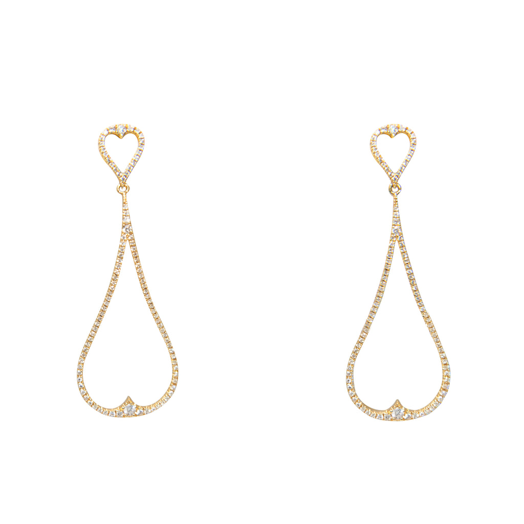 Diamond Drop Earrings Pear Shape