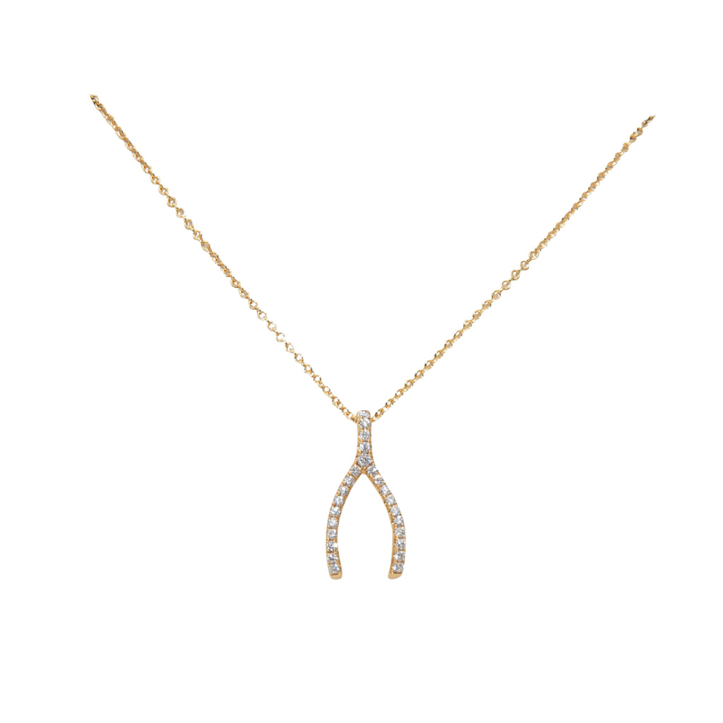 Diamond Wishbone Large Pendant