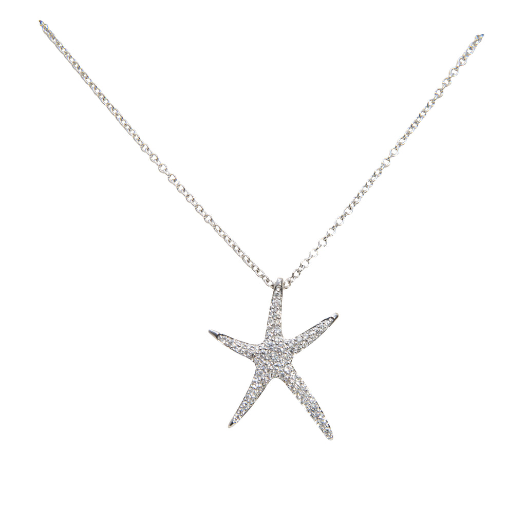 Large Diamond Starfish Pendant