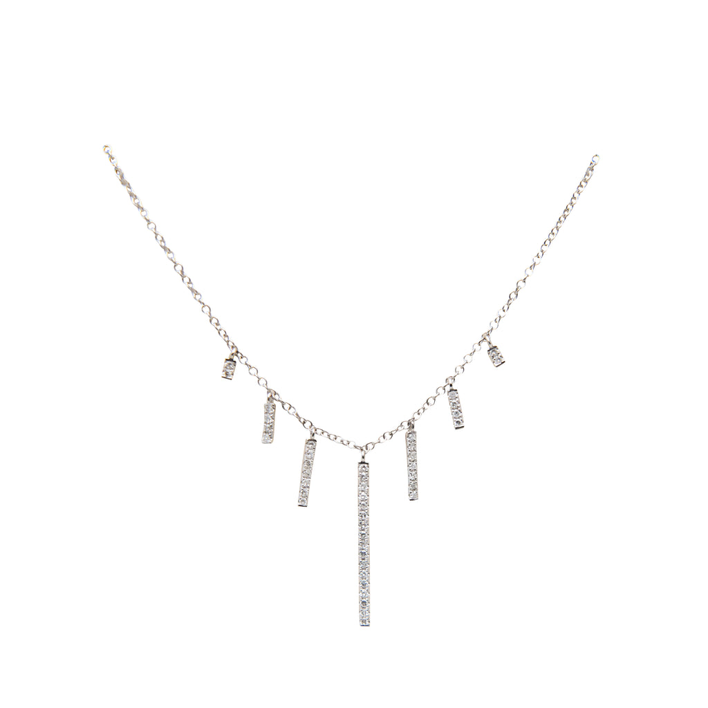 Meira-T Set Of Diamond Bars Necklace