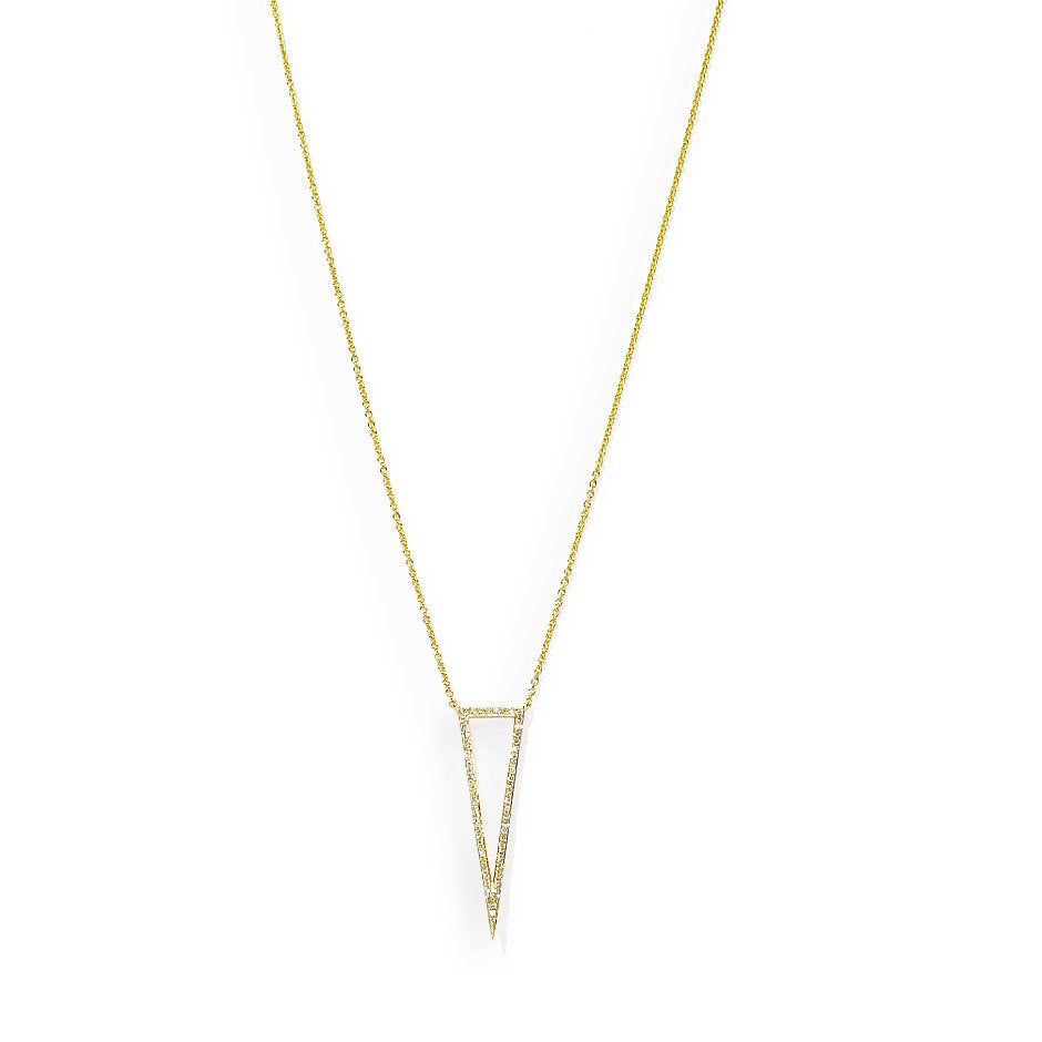 Diamond Triangle Shape Necklace